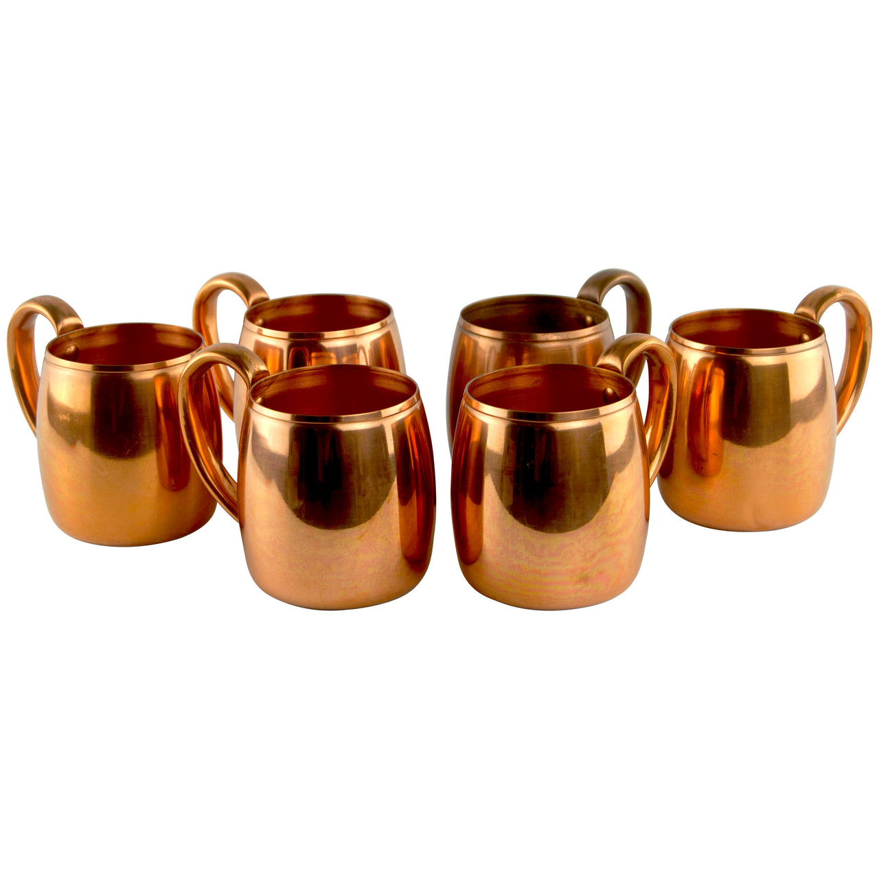 Mid Century Vintage West Bend Solid Copper Mugs, The Hour