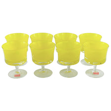 Denby Yellow Cased Cocktail Glasses | The Hour Shop Vintage