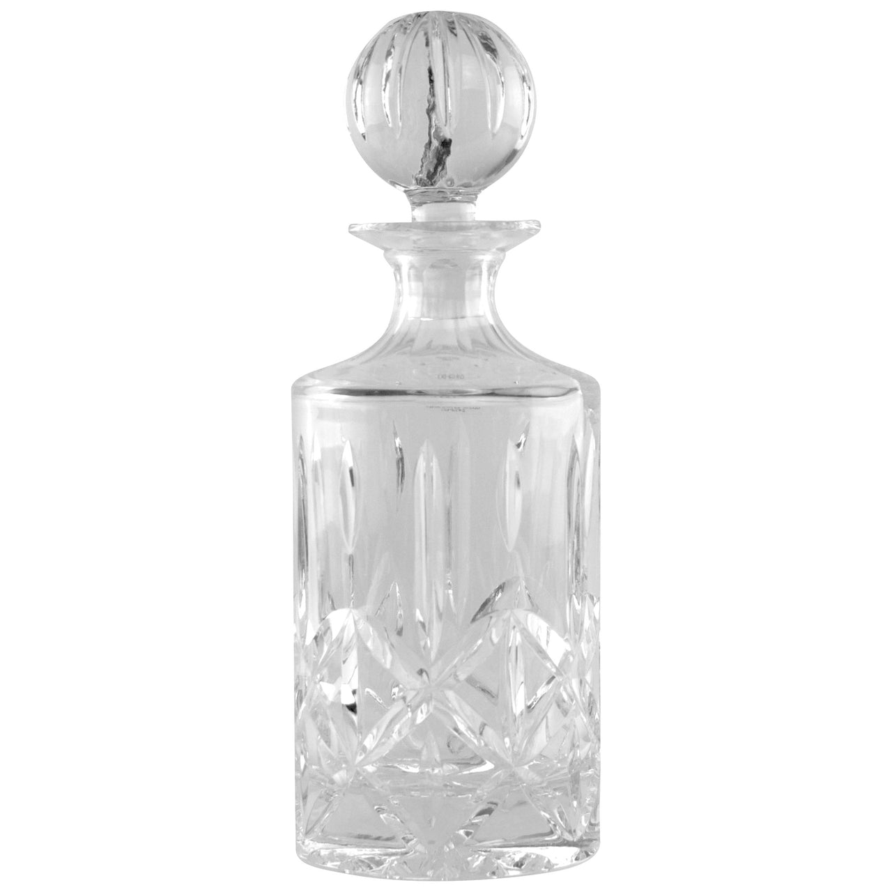 Polish Cut Lead Crystal Cylindrical Decanter | The Hour Shop