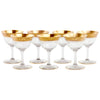 Embossed Gold Band Cocktail Glasses | The Hour Shop Vintage