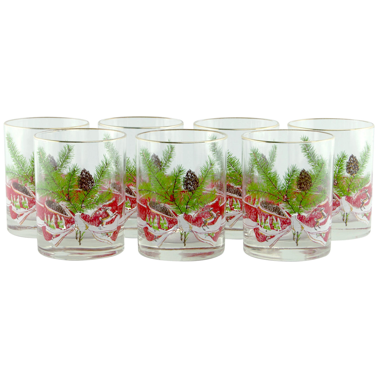 Cera Christmas Rocks Glasses | The Hour Shop Vintage Barware