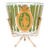 Vintage Gold & Green Ice Bucket Cocktail Set Ice Bucket and Caddy | The Hour Shop