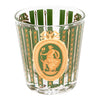 Vintage Gold & Green Ice Bucket Cocktail Set Glass | The Hour Shop