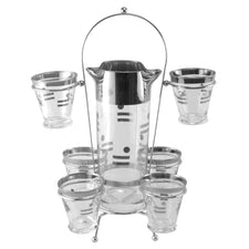 Mercury Dot & Dash Cocktail Pitcher Caddy Set, The Hour Shop