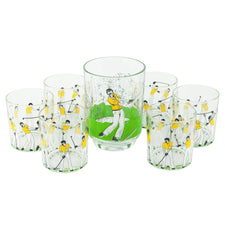 Italian Golf Ice Bucket & Rocks Glasses Set, The Hour Shop