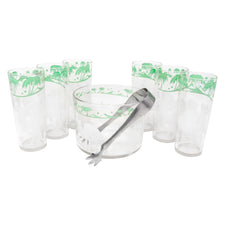 Hazel Atlas Camel Ice Bucket & Collins Set
