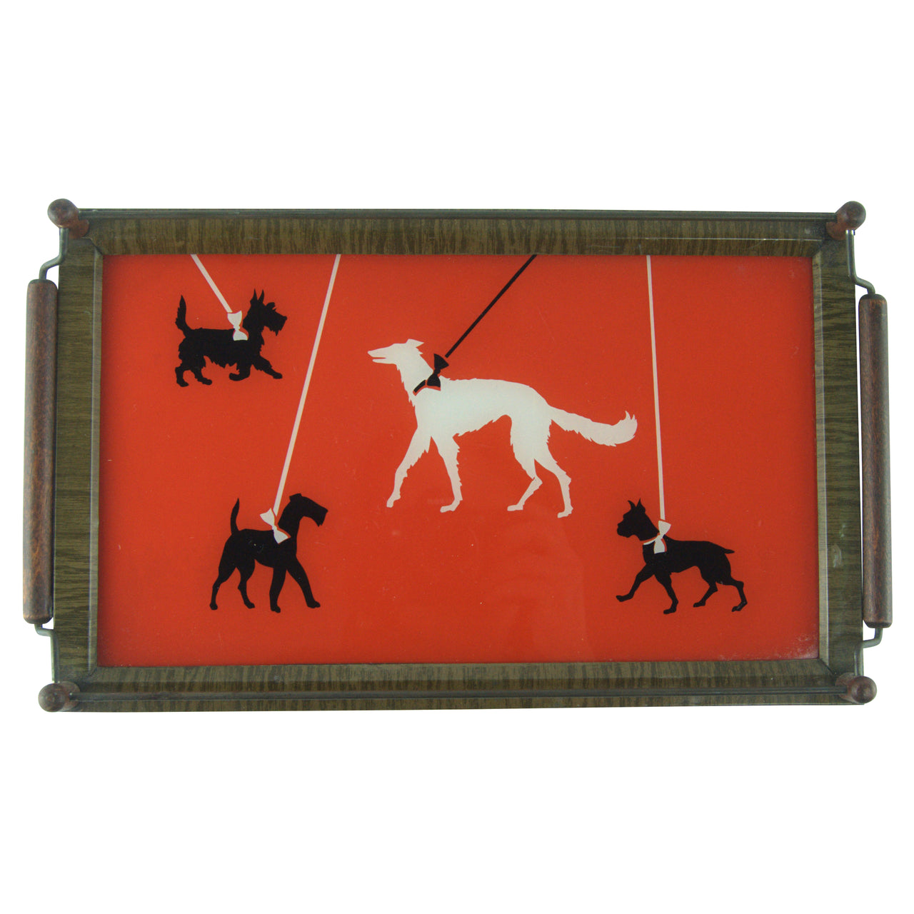 Art Deco Walking Dogs Tray | The Hour Shop Vintage Glass
