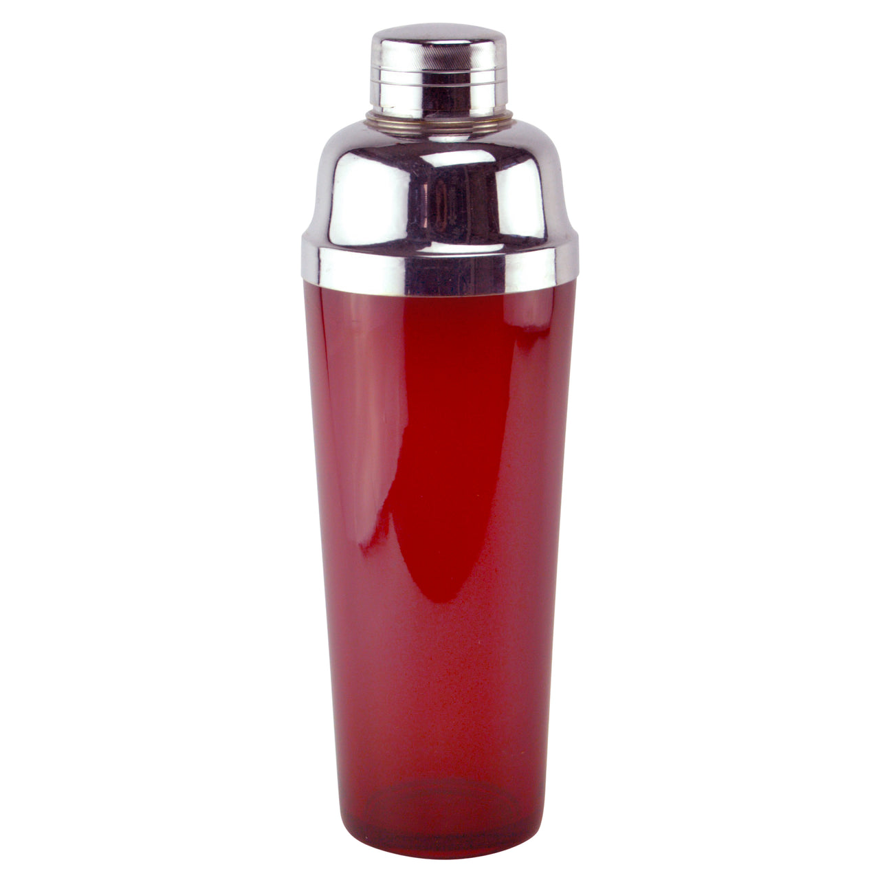 Ruby Red Tall Glass Cocktail Shaker