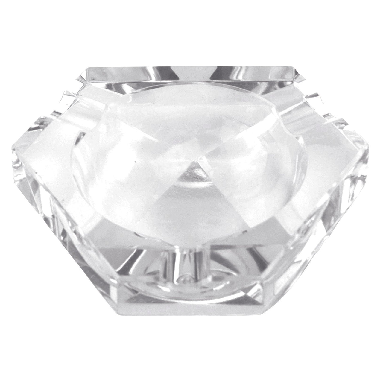 Cut Crystal 3 Divot Ashtray | The Hour Shop Vintage Barware