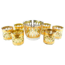 Culver Valencia Ice Bucket & Rocks Glasses Set
