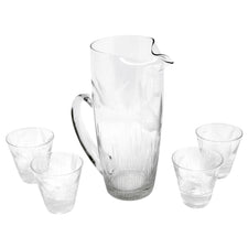 Vintage Etched Duck and Reeds Cocktail Pitcher Set | The Hour Shop