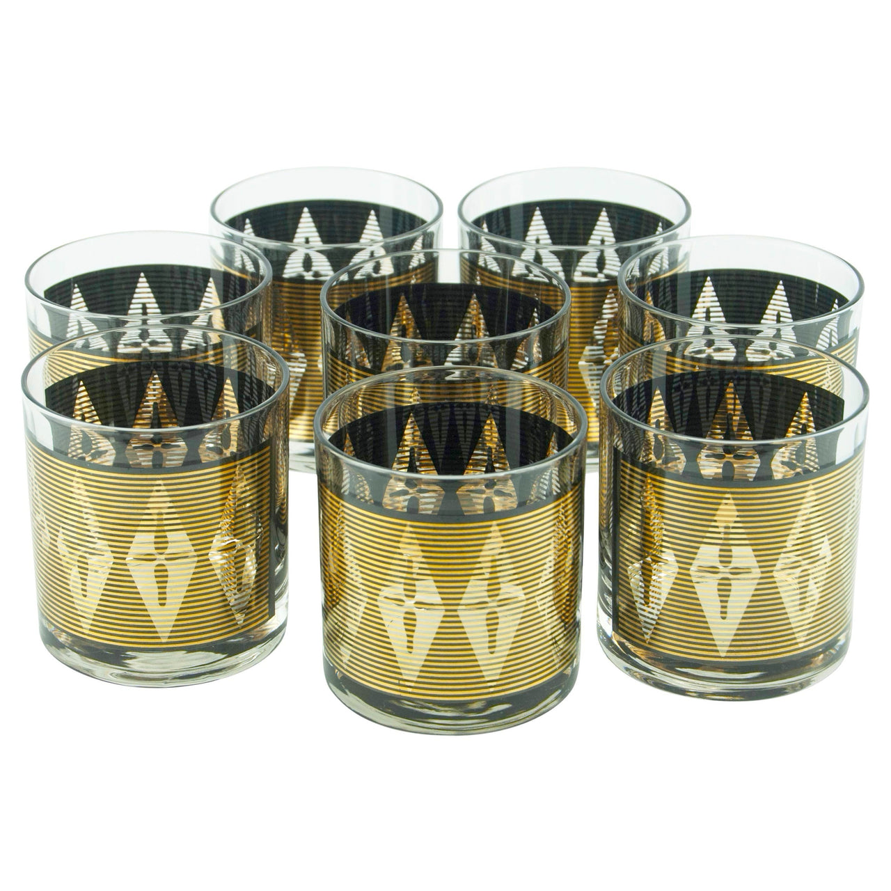 Gold & Black Diamond Rocks Glasses | The Hour Shop Vintage