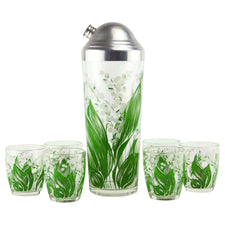 Lily of the Valley Cocktail Shaker Set | The Hour Shop Vintage