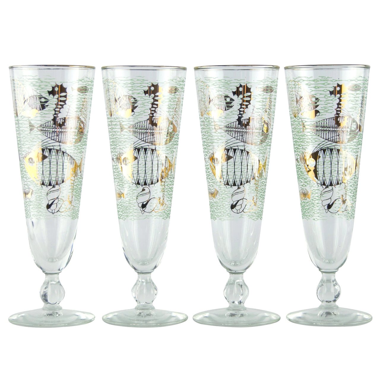 Libby Under The Sea Pilsner Glasses | The Hour Shop Vintage