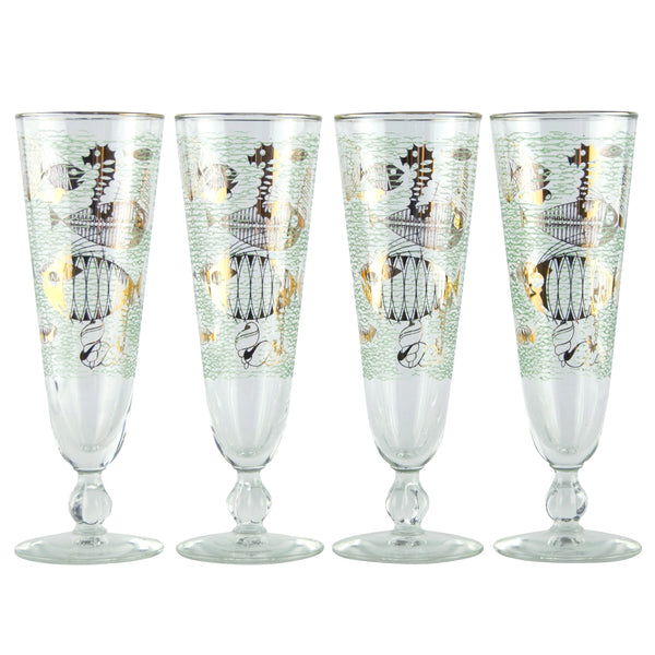 Libby Under The Sea Pilsner Glasses The Hour Shop
