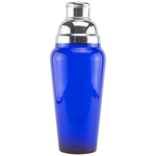 Cobalt Blue Glass Rounded Top Cocktail Shaker