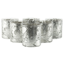 G. Briard Floral Sterling Rocks Glasses | The Hour Shop Vintage