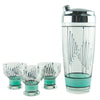 Aqua & Black Painted Cocktail Shaker Set | The Hour Shop Vintage