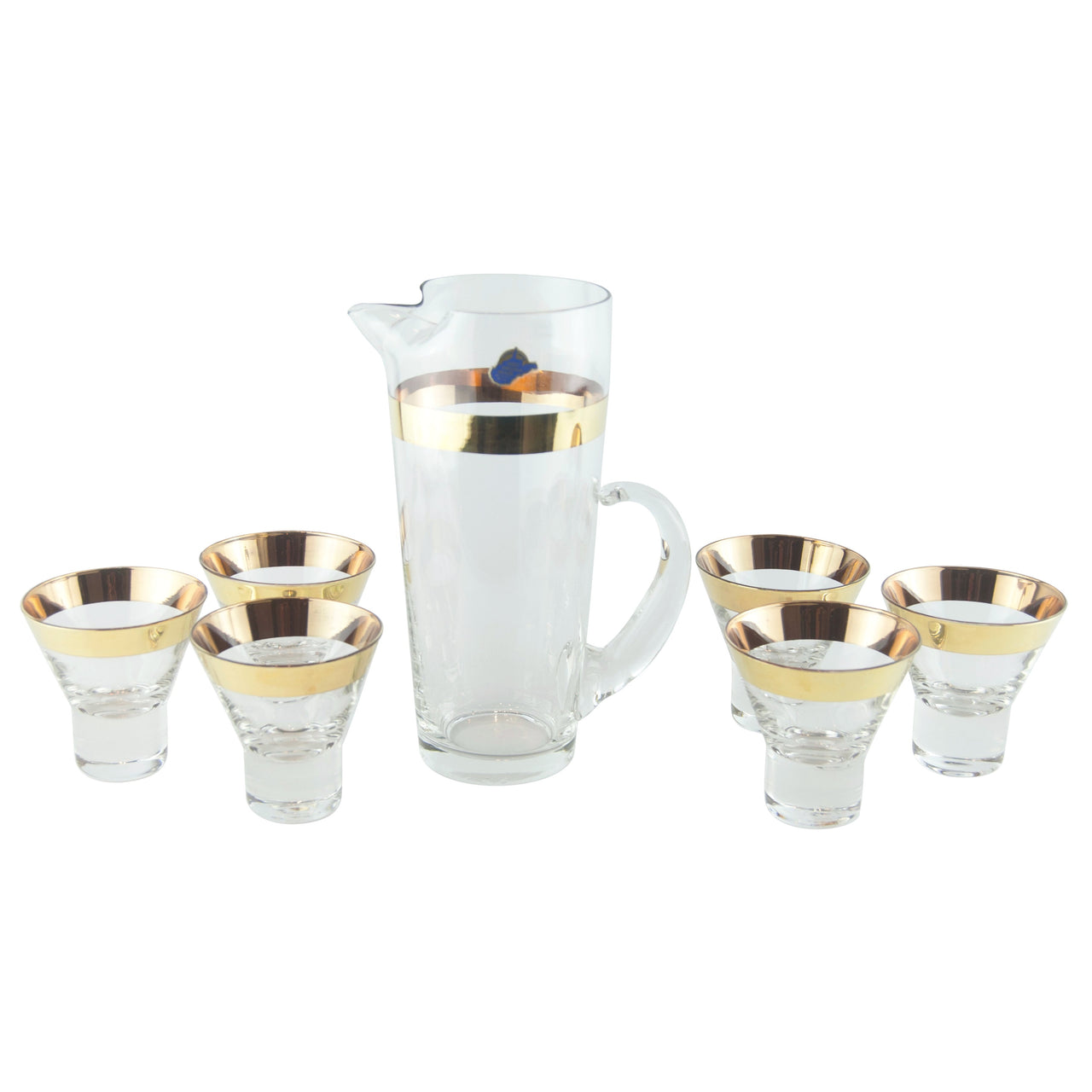 W. Virginia Gold Band Cocktail Pitcher Set | The Hour Vintage