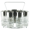 Mercury Fade Ice Bucket Glass Caddy Set | The Hour Vintage