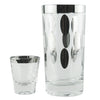 Mercury Polka Dot Ice Bucket Glass Caddy Set