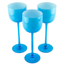 Carlo Moretti Light Blue Wine Glasses | The Hour Shop Vintage