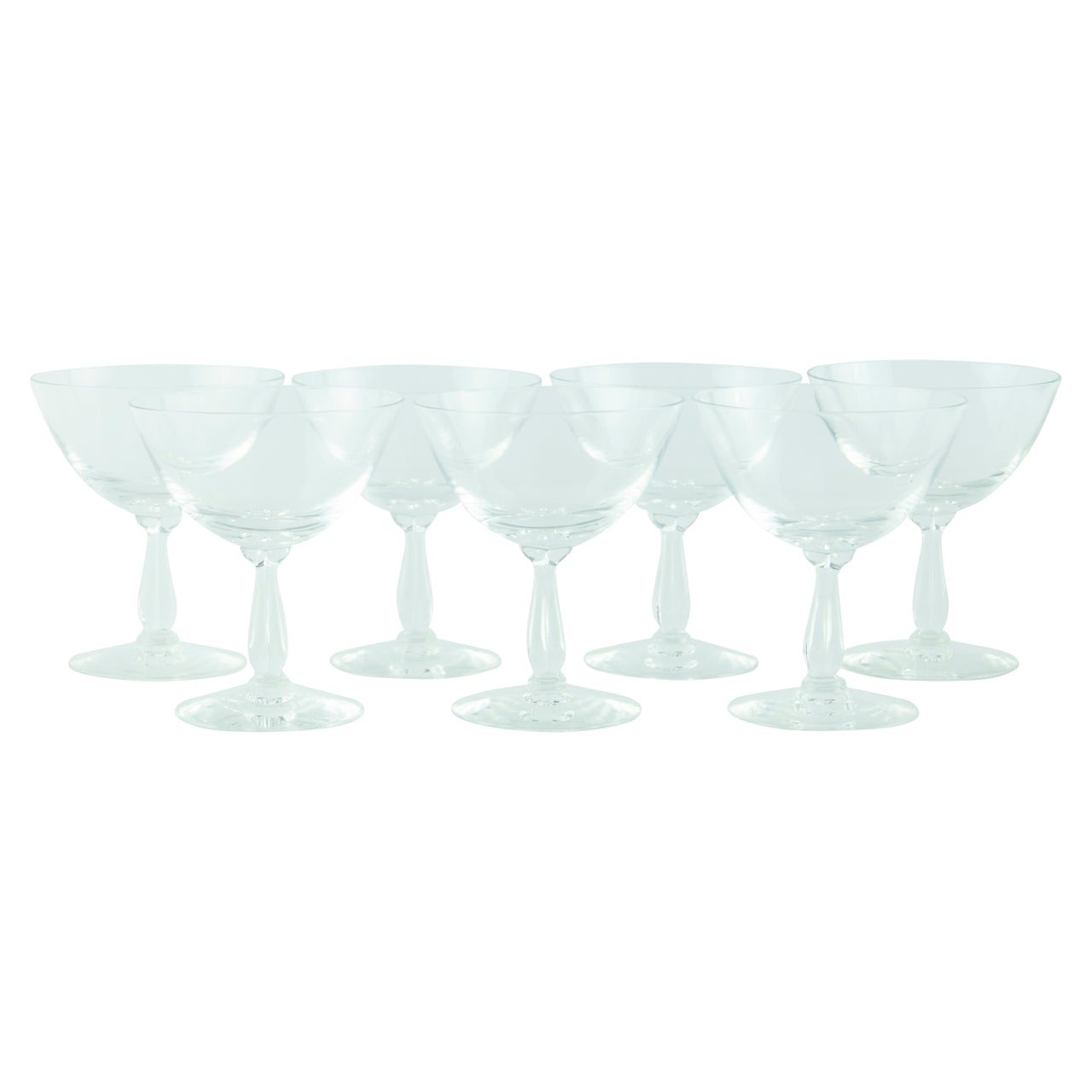 Fostoria Crystal Rhapsody Coupe Glasses | The Hour Vintage