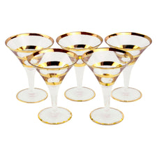 Gold Band Cocktail Glasses | The Hour Shop Vintage Glassware