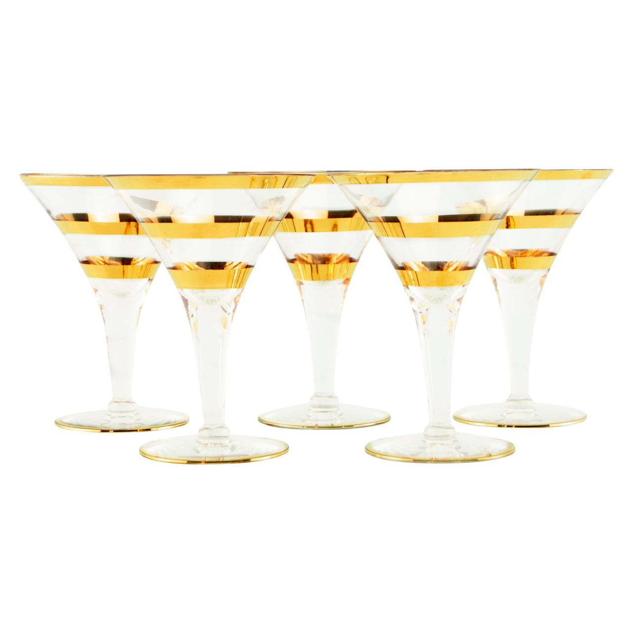 Gold Band Cocktail Glasses