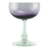 Fostoria Amethyst Coupe Glasses | The Hour Shop Vintage