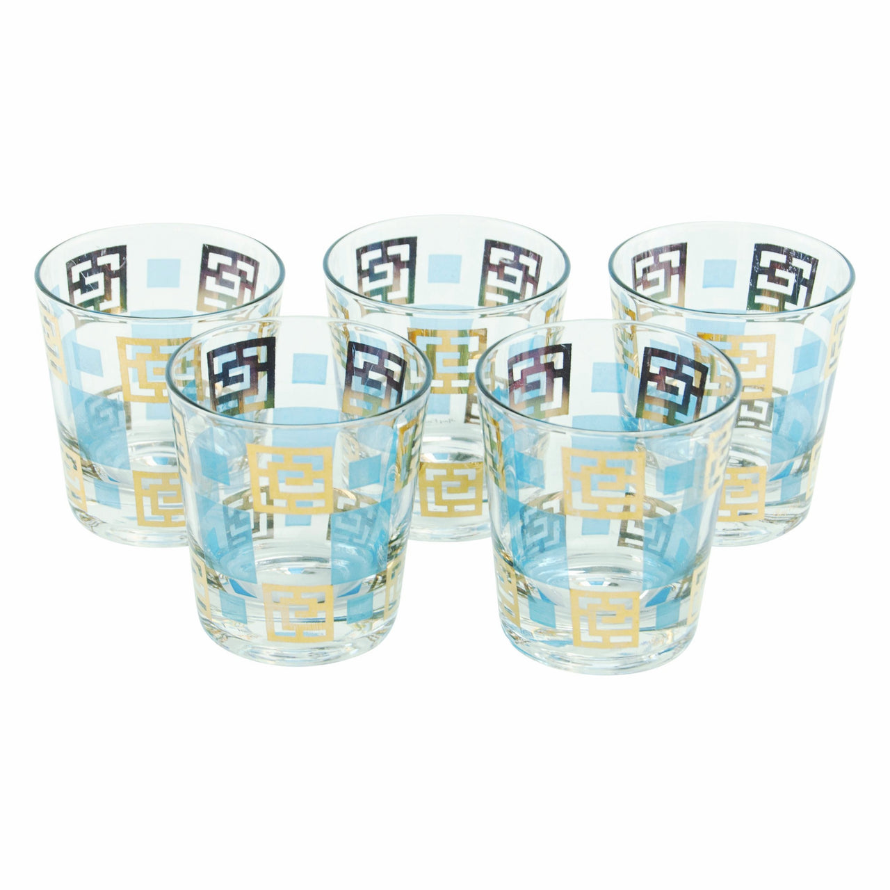 Gay Fad Gold & Blue Rocks Glasses | The Hour Shop Vintage