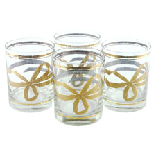 Georges Briard Gold Bow Rocks Glasses | The Hour Shop Vintage