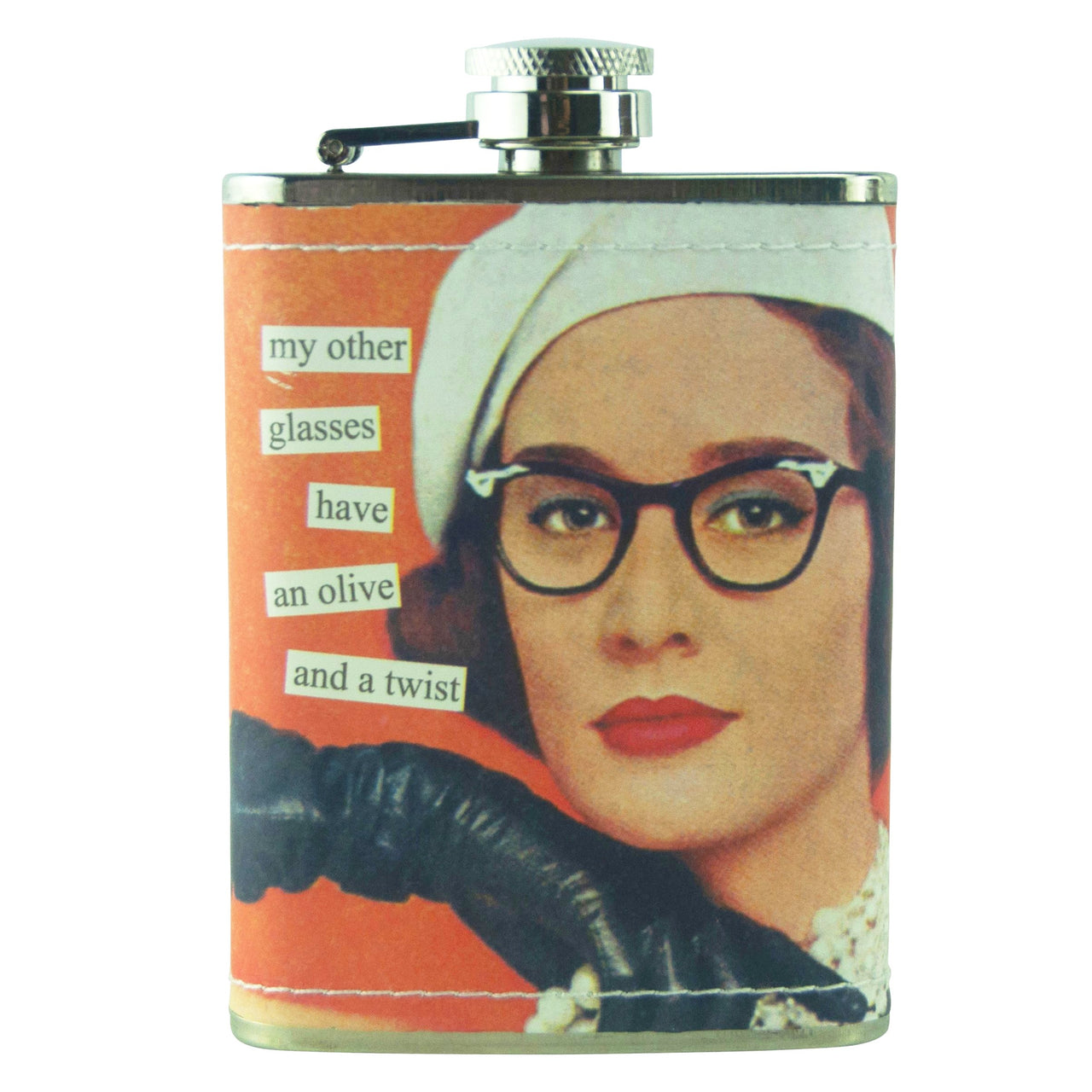 Olive & Twist Anne Taintor Flask | The Hour Shop Barware