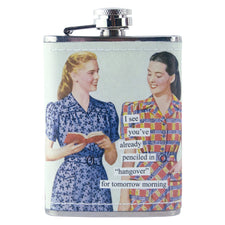 Penciled In Hangover Anne Taintor Flask | The Hour Shop Barware