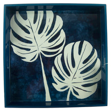 Philodendron Square Lacquer Tray | The Hour Shop Home Decor
