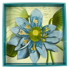 Blue Lotus Square Lacquer Tray | Rock Flower Paper, The Hour