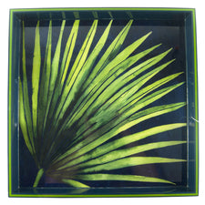 Palm Leaf Square Lacquer Tray | The Hour Shop Home Decor