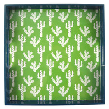 Cactus Print Square Lacquer Tray | Rock Flower Paper | The Hour