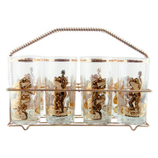 Culver Frog & Toad Collins Glass Caddy Set | The Hour Vintage