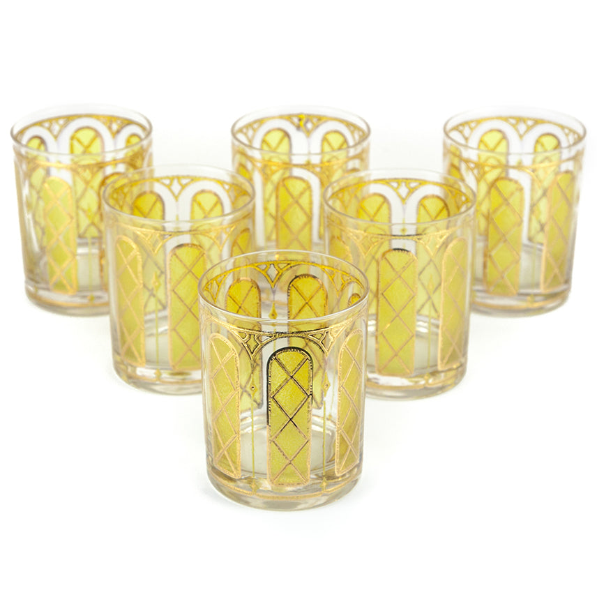 Yellow & Gold Arch Rocks Glasses | The Hour Shop Vintage