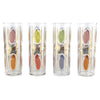 Multi Color & Gold Oval Collins Glasses | The Hour Shop Vintage