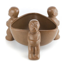 Orchids of Hawaii Brown Ceramic Tiki Bowl | The Hour Vintage