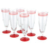 Red Striped Pilsner Glasses | The Hour Shop Vintage Glassware