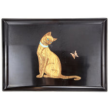 Couroc  Cat & Butterfly Tray