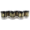 Vintage Fred Press Black & Gold Leaves Rocks Glasses | The Hour