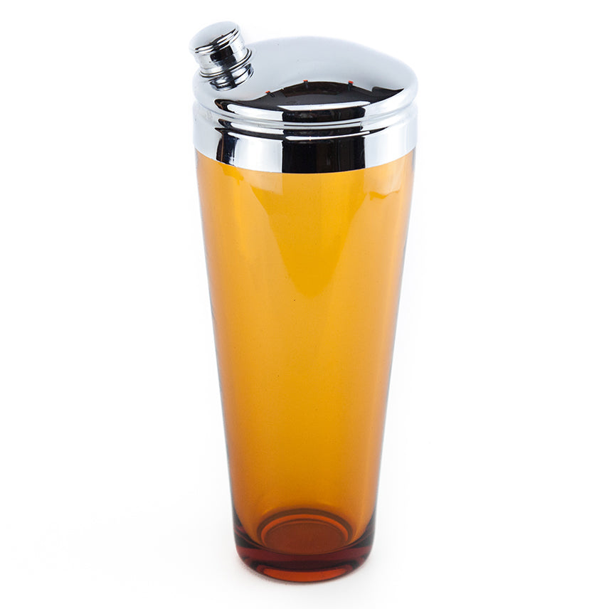 Orange Amber Glass Cocktail Shaker | The Hour Shop Vintage