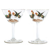 Gold Trimmed Rooster Cocktail Glasses | The Hour Shop Vintage