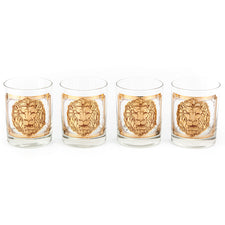 G. Briard Gold Lion Head Rocks Glasses | The Hour Shop Vintage