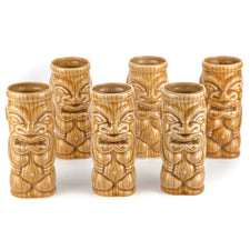 Orchids of Hawaii Light Brown Ceramic Tiki Mugs | The Hour Vintage