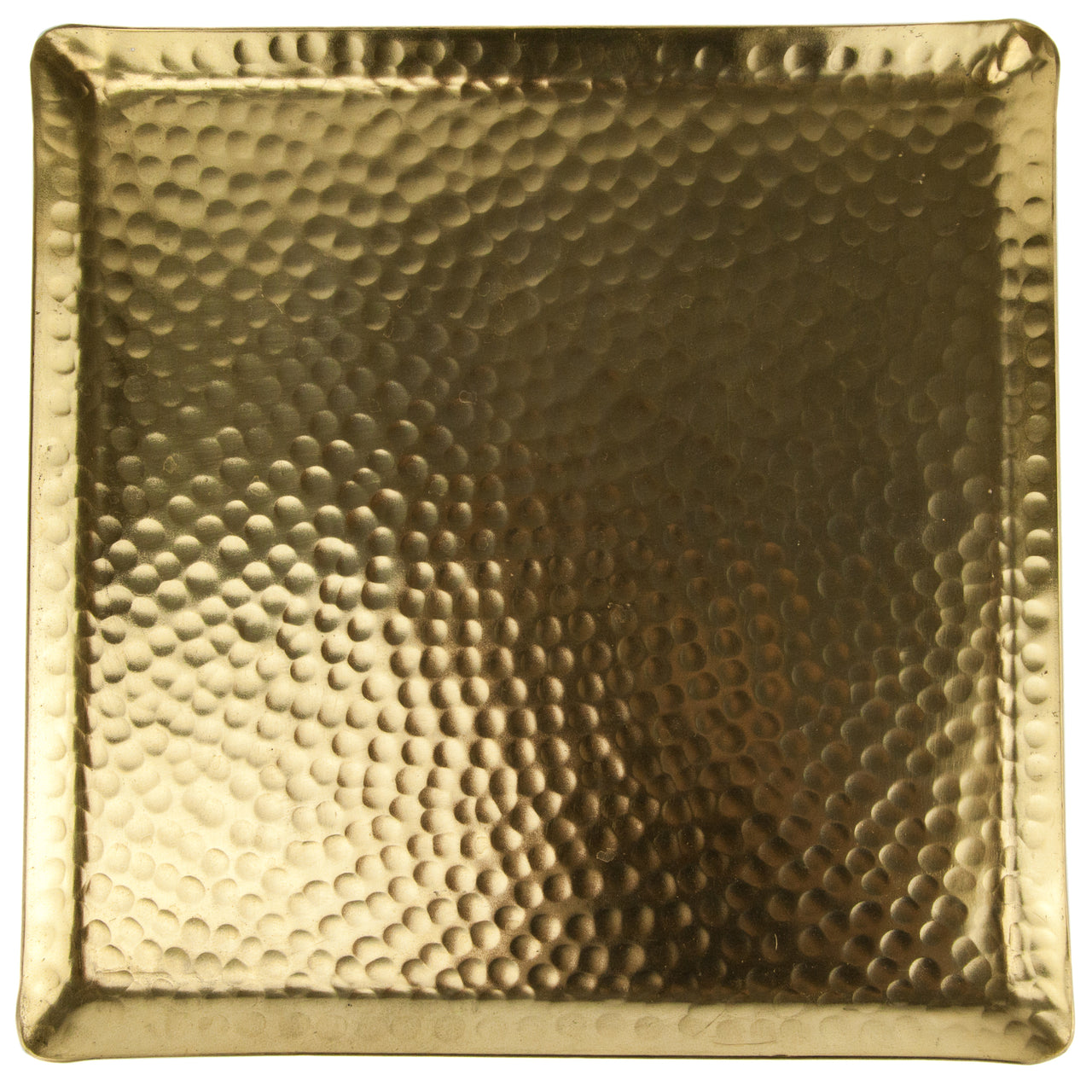Hammered Gold Metal Tray | The Hour Shop Home Bar Decor